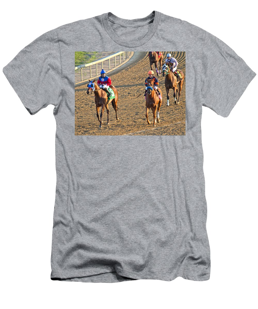 Horse Men's T-Shirt (Athletic Fit) featuring the photograph Afterwards by Betsy Knapp