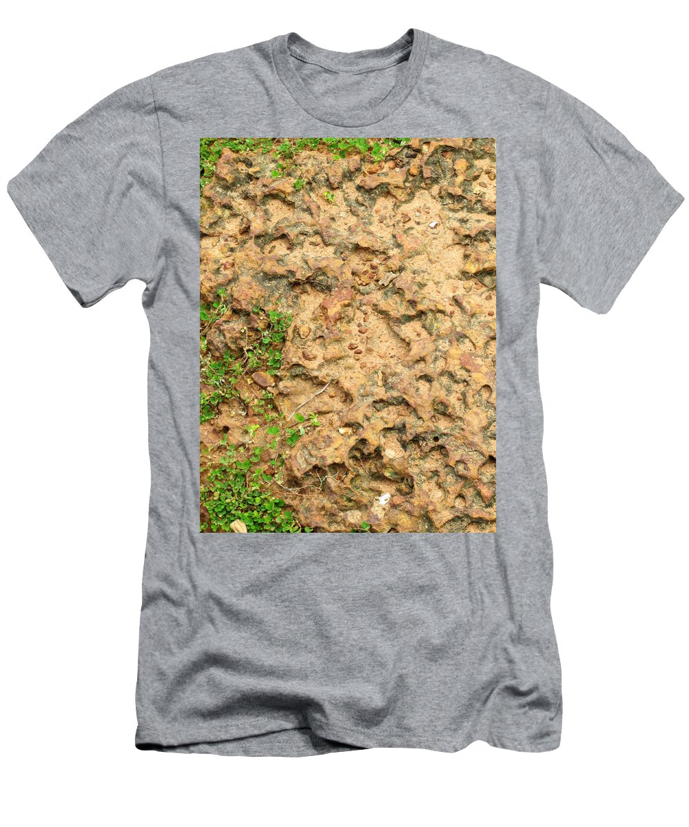 Latterite Men's T-Shirt (Athletic Fit) featuring the photograph Ancient Latterite Pavement by Mark Sellers