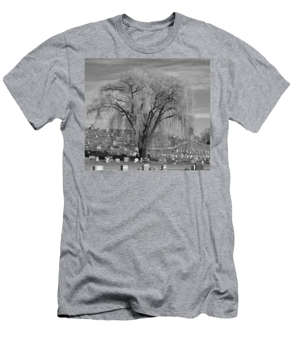 Men's T-Shirt (Athletic Fit) featuring the photograph And The Willow Tree Weeps by Barbara S Nickerson