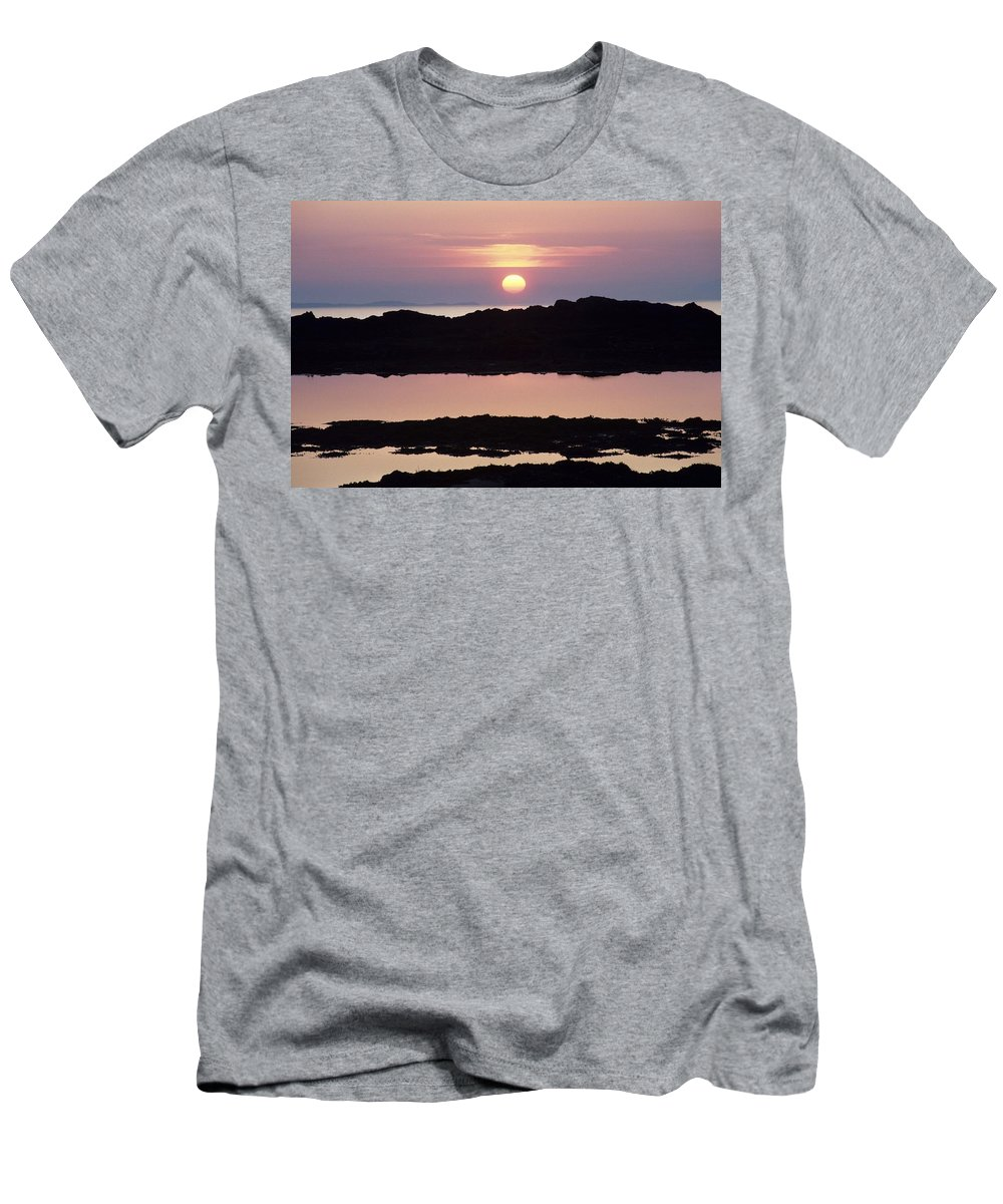 Body Of Water Men's T-Shirt (Athletic Fit) featuring the photograph Ardnamurchan Peninsula, Lochaber by Lizzie Shepherd