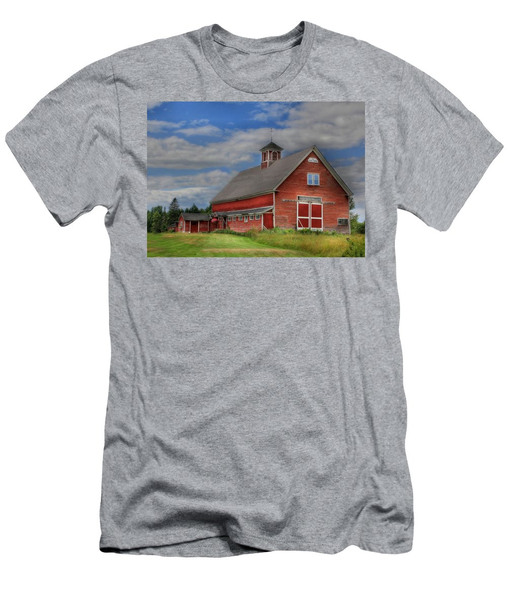 Men's T-Shirt (Athletic Fit) featuring the photograph Atco Farms - 1920 by Lori Deiter