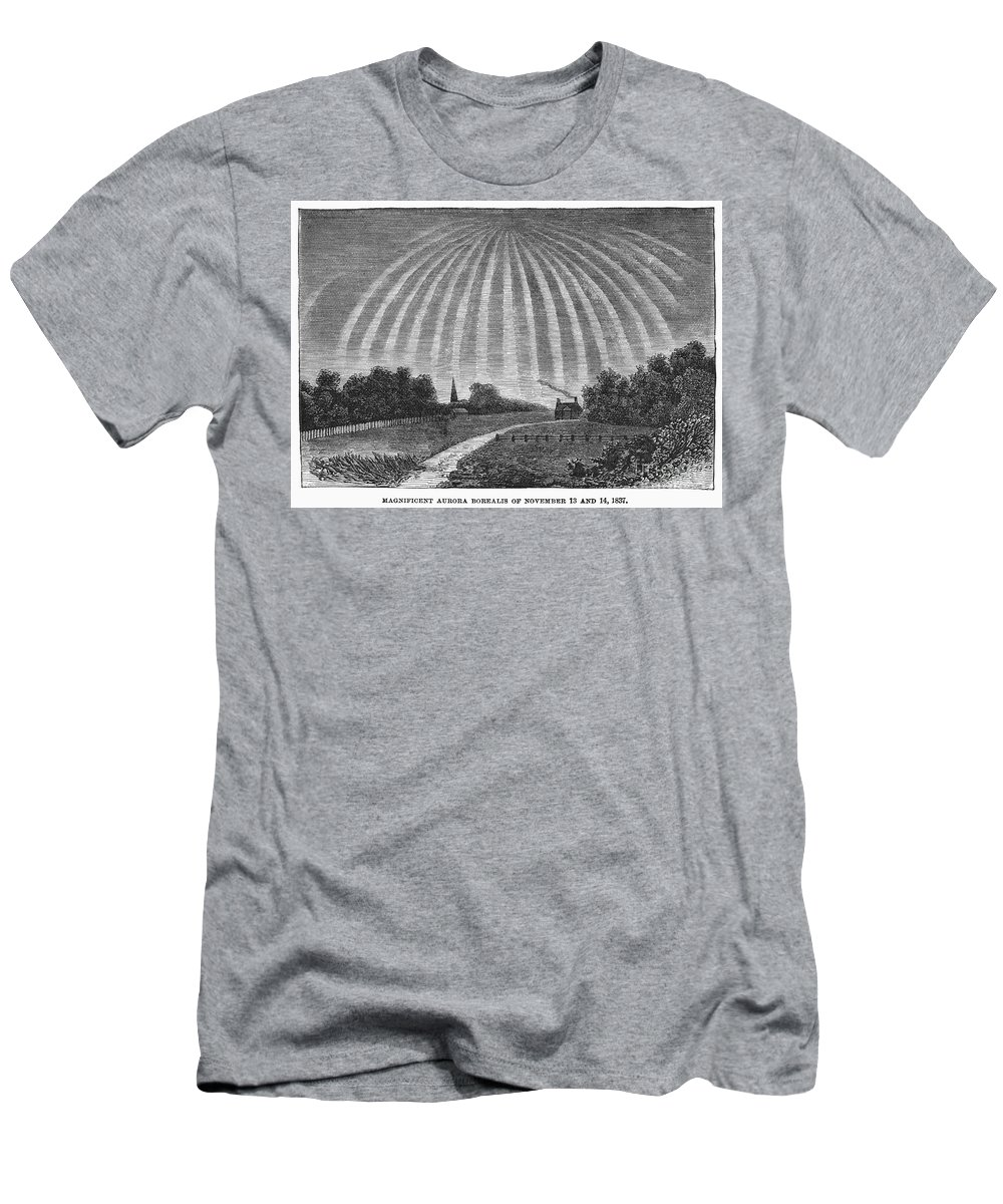 1837 Men's T-Shirt (Athletic Fit) featuring the photograph Aurora Borealis, 1837 by Granger
