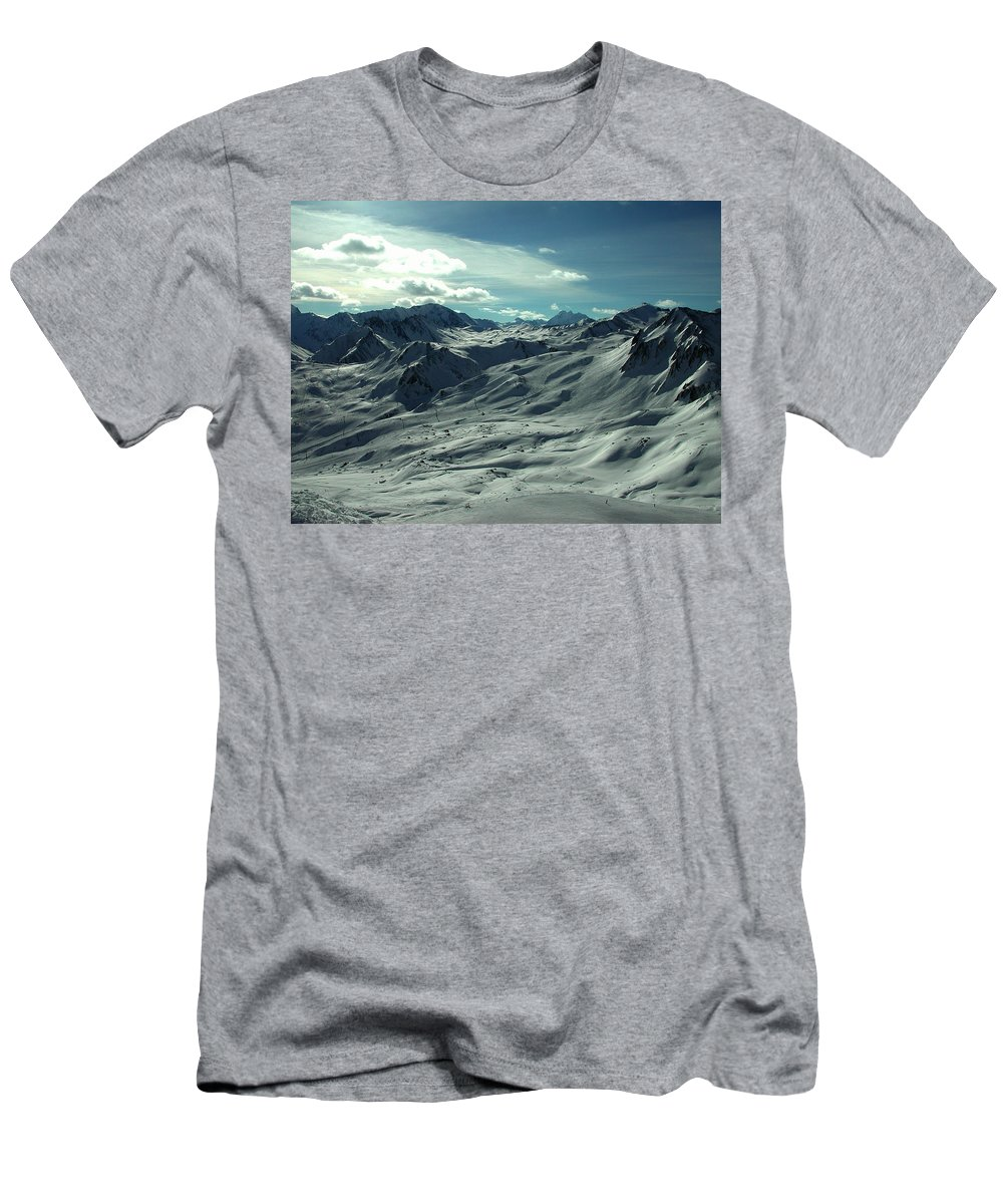 Colette Men's T-Shirt (Athletic Fit) featuring the photograph Austria Snow Mountain by Colette V Hera Guggenheim