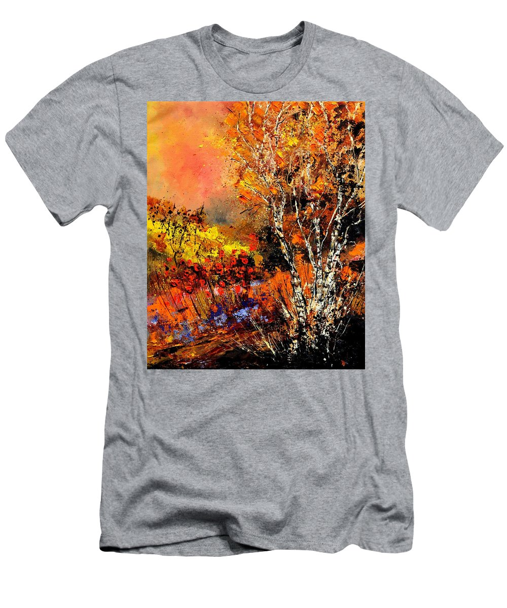 Landscape T-Shirt featuring the painting Autumn 672180 by Pol Ledent