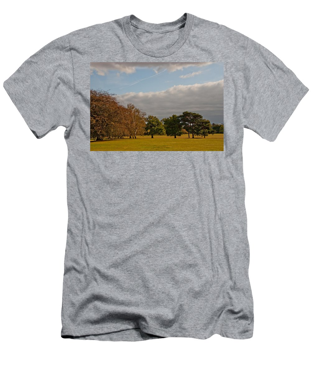 Avery Hill Men's T-Shirt (Athletic Fit) featuring the photograph Avery Hill Park by Dawn OConnor