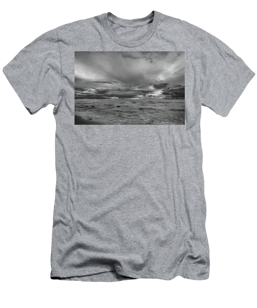 Landscapes Men's T-Shirt (Athletic Fit) featuring the photograph Baltic Sea by Olivier De Rycke