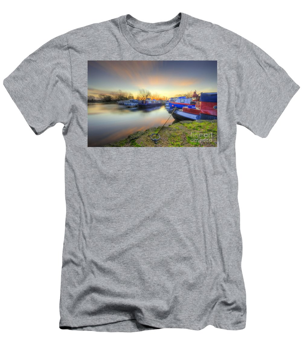 Hdr Men's T-Shirt (Athletic Fit) featuring the photograph Barrow Sunrise In Motion 2.0 by Yhun Suarez