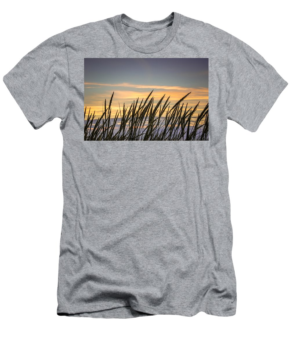 Beach Men's T-Shirt (Athletic Fit) featuring the photograph Beach Grass by Bill Pevlor