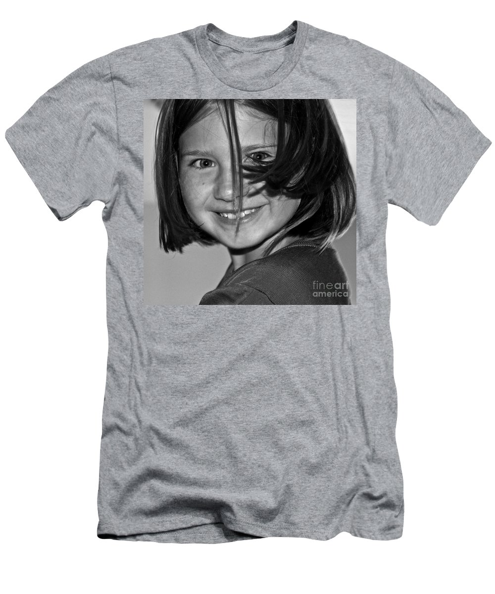 Girl Men's T-Shirt (Athletic Fit) featuring the photograph Beautifully Candid by Gwyn Newcombe