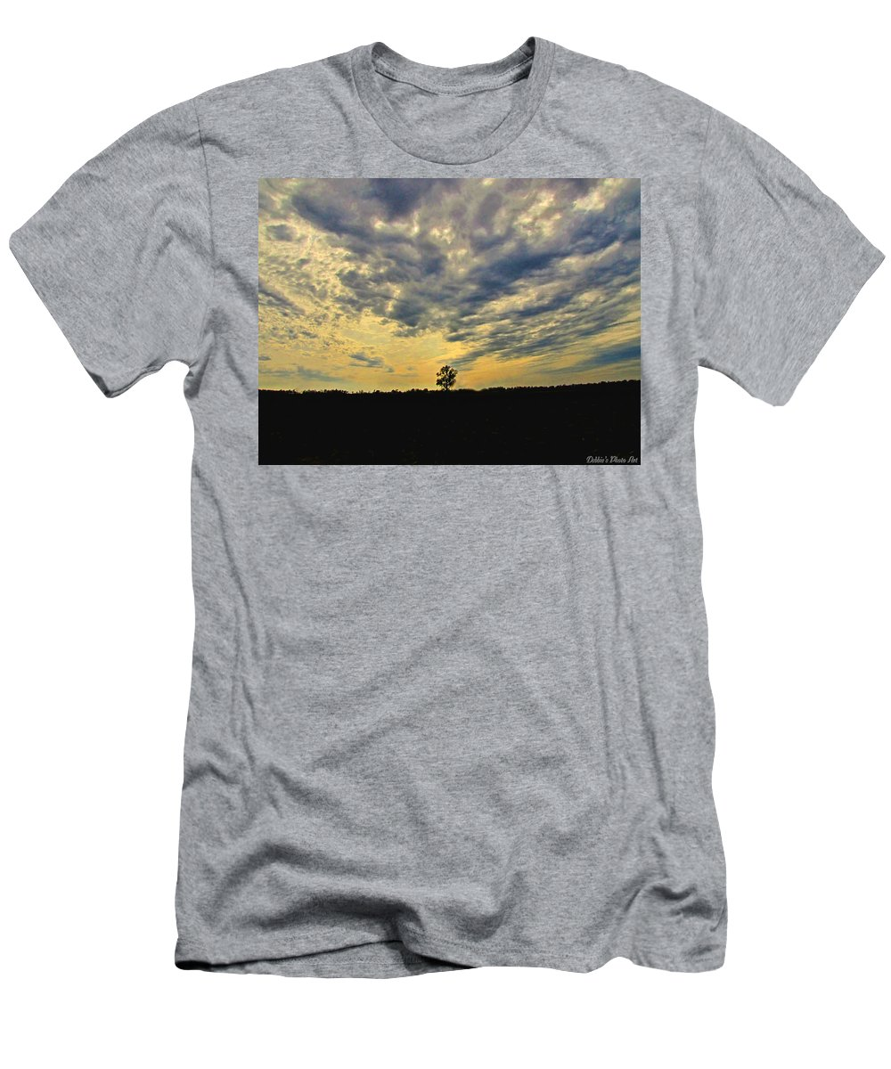 Morning Men's T-Shirt (Athletic Fit) featuring the photograph Big Sky by Debbie Portwood