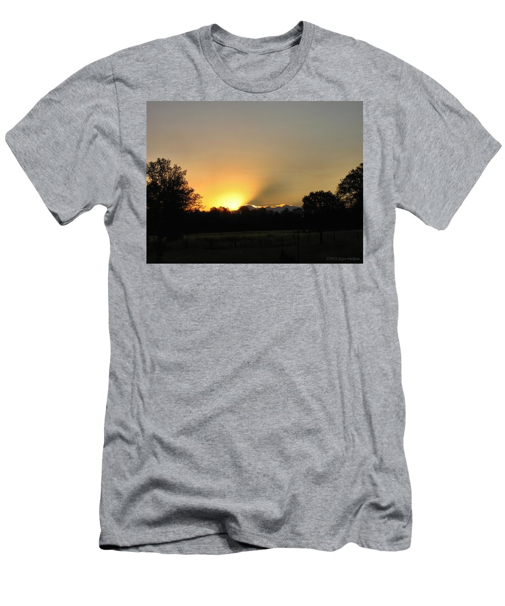 Sunrise Men's T-Shirt (Athletic Fit) featuring the photograph Bliss by Joyce Dickens