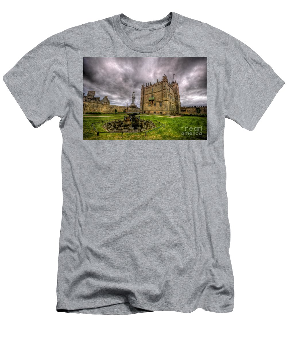 Bolsover Castle Men's T-Shirt (Athletic Fit) featuring the photograph Bolsover Castle And Garden by Yhun Suarez