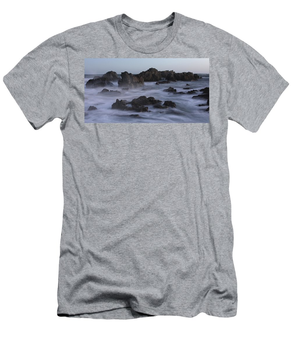 Coastal Wall Art Men's T-Shirt (Athletic Fit) featuring the photograph Breaker's Wall by Paul Maples