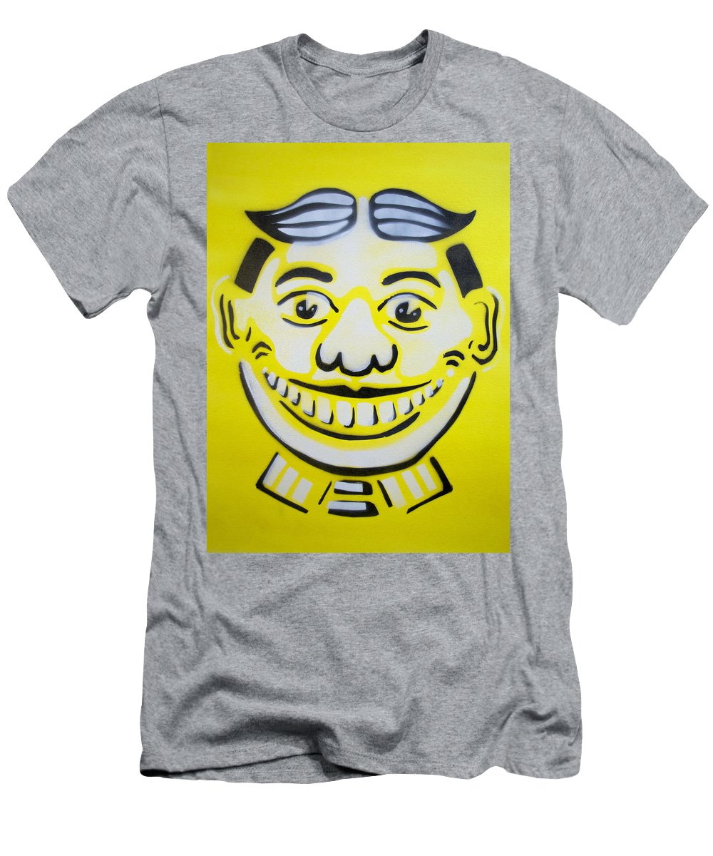 Tillie Of Asbury Park T-Shirt featuring the painting Bright white yellow Tillie by Patricia Arroyo