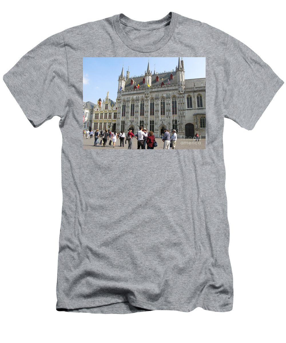 Brugge Men's T-Shirt (Athletic Fit) featuring the photograph Brugge 2011 by Ausra Huntington nee Paulauskaite