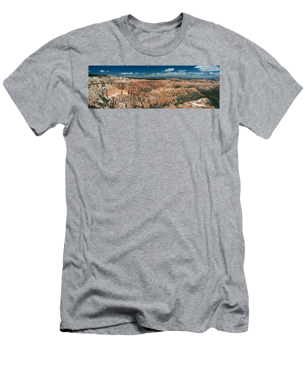 Bryce Men's T-Shirt (Athletic Fit) featuring the photograph Bryce Canyon Panaramic by Larry Carr