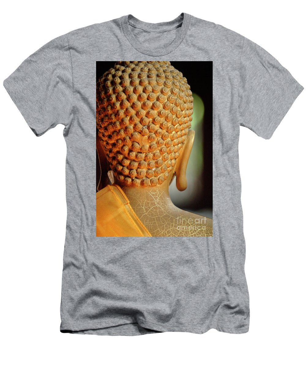 Buddha Men's T-Shirt (Athletic Fit) featuring the photograph Buddha Detail 2 by Bob Christopher