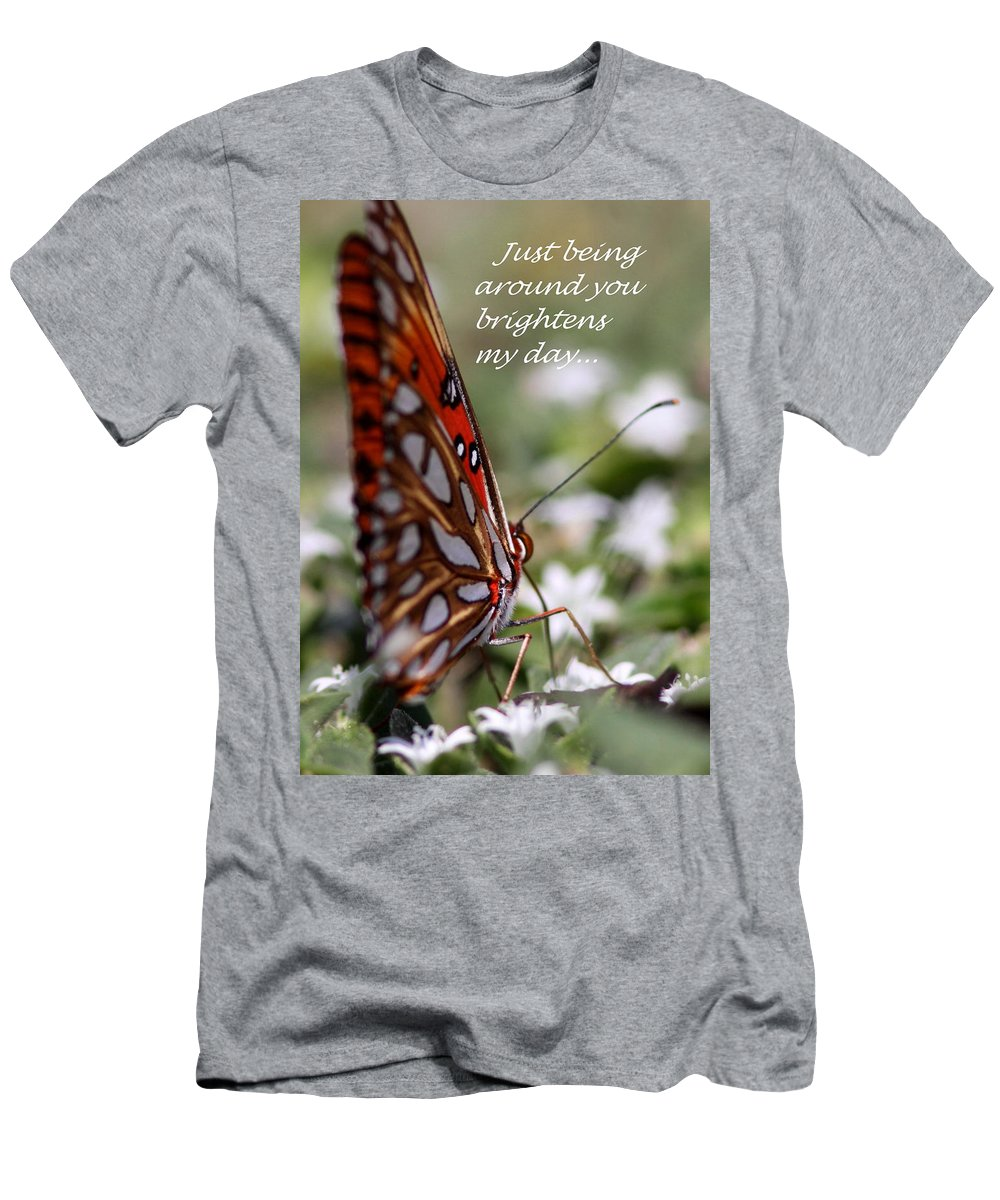Friends Men's T-Shirt (Athletic Fit) featuring the photograph Butterfly Friendship Card by Travis Truelove