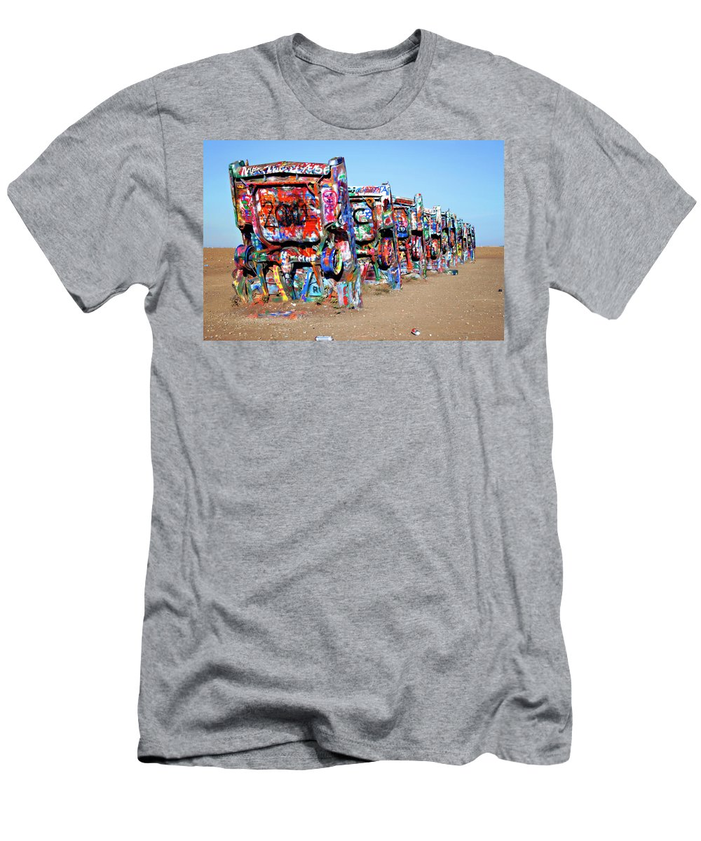 Cadillac Men's T-Shirt (Athletic Fit) featuring the photograph Cadillac Style II by Ricky Barnard