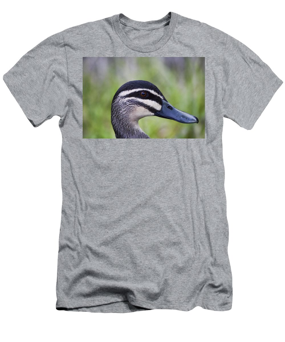 Pacific Black Duck Men's T-Shirt (Athletic Fit) featuring the photograph Camo Face Painted by Douglas Barnard