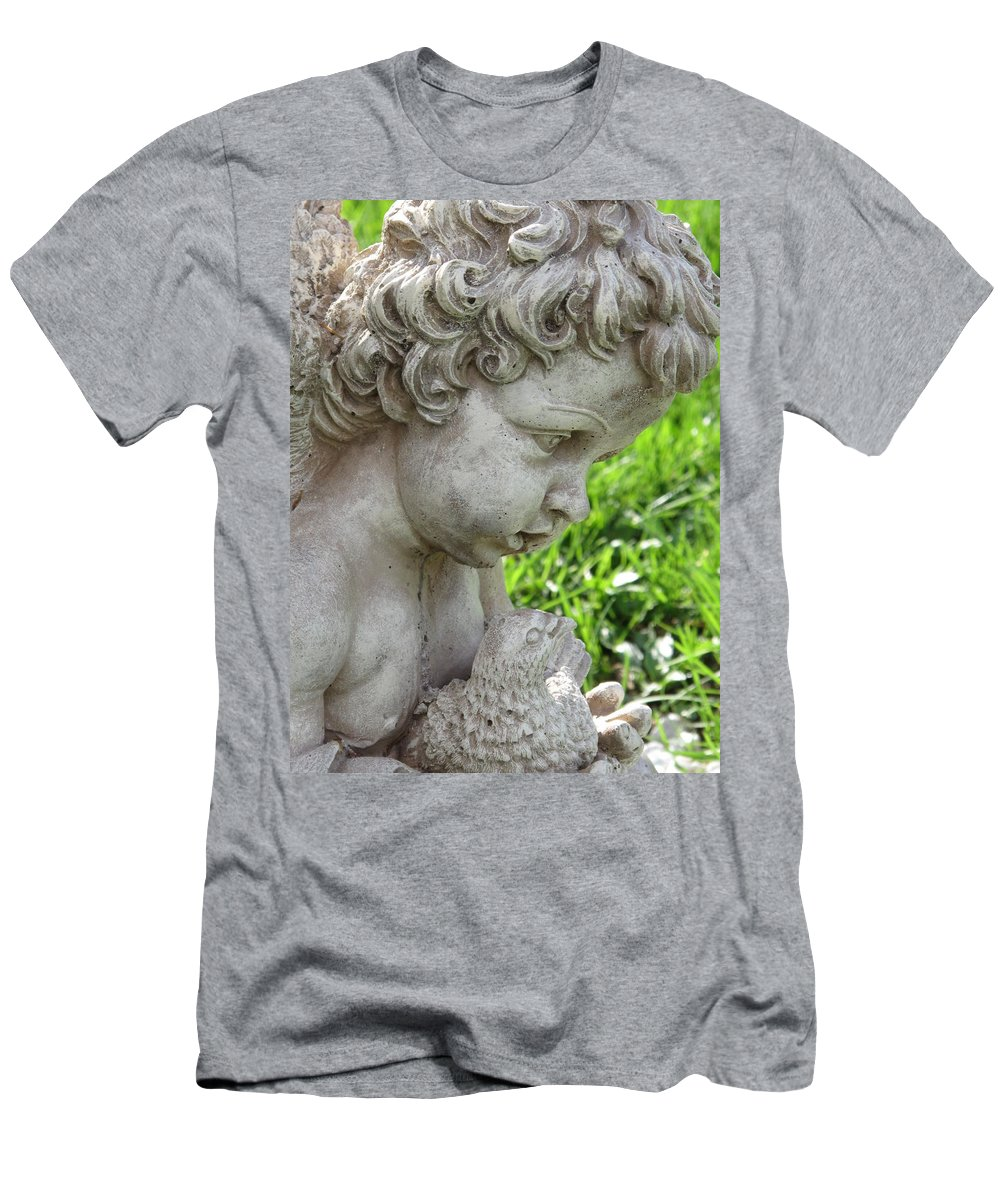 Cherub Men's T-Shirt (Athletic Fit) featuring the photograph Cherub Of Eternal Sleep by Michele Nelson