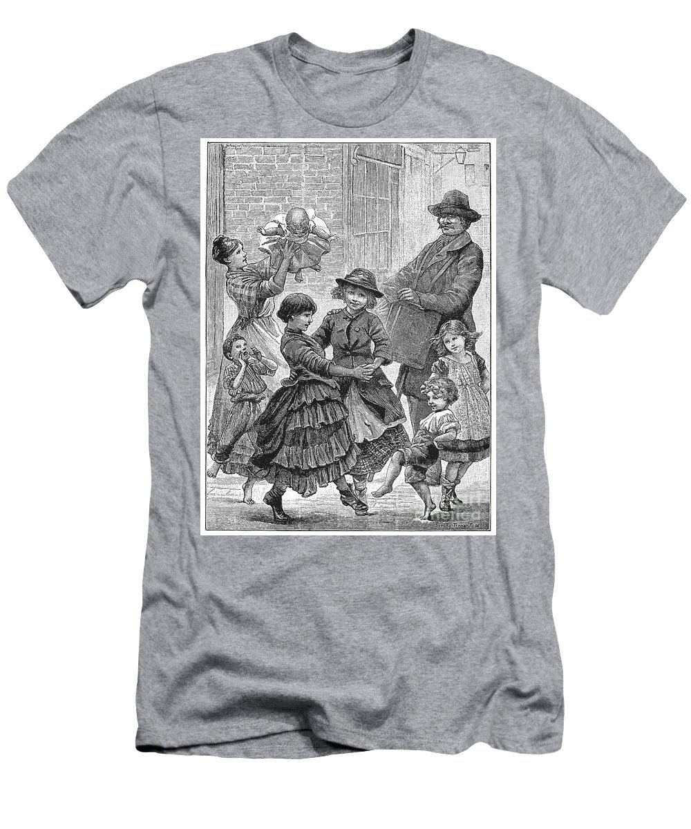 1886 Men's T-Shirt (Athletic Fit) featuring the photograph Children Dancing by Granger