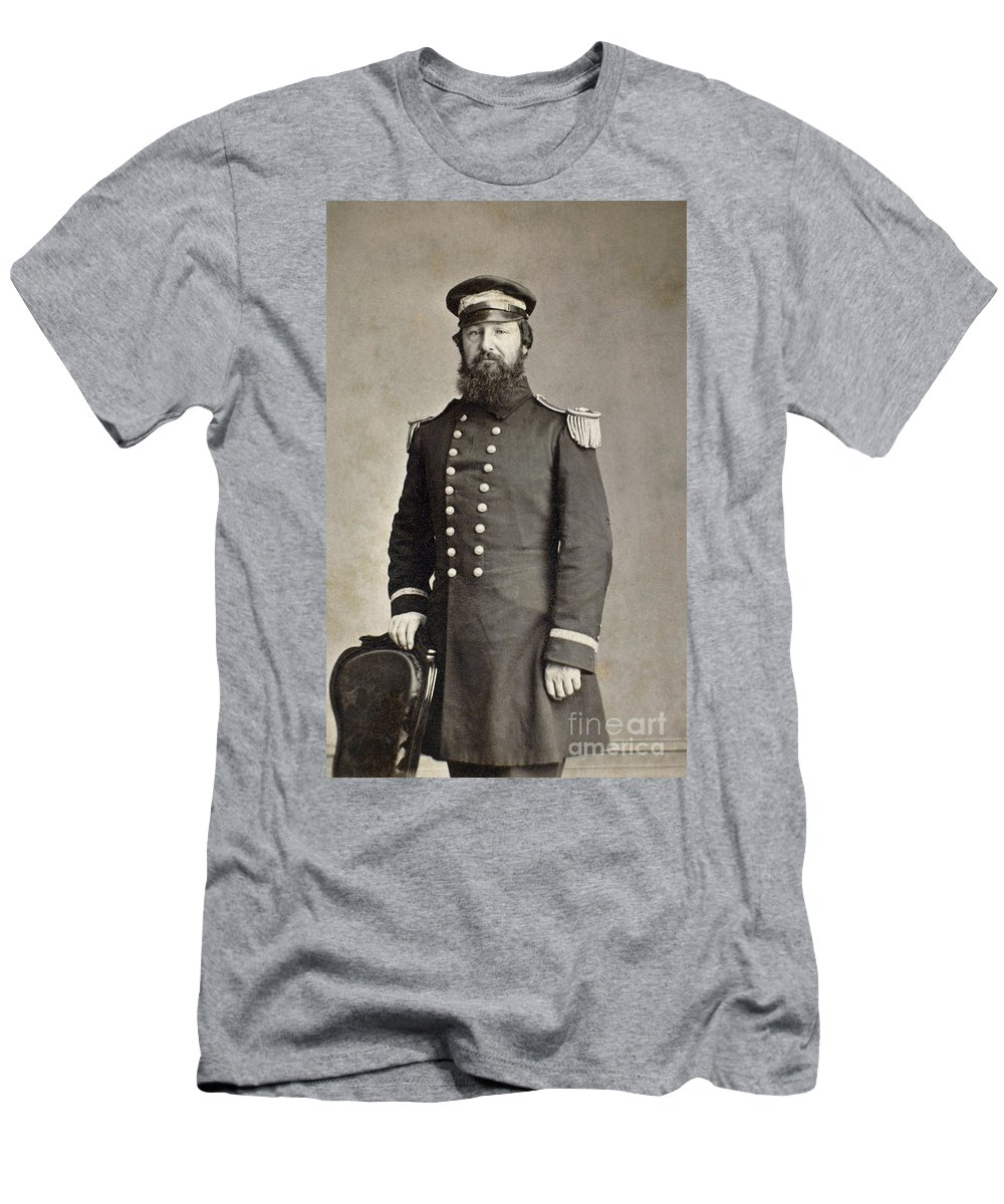 1860 Men's T-Shirt (Athletic Fit) featuring the photograph Civil War Union Commander by Granger