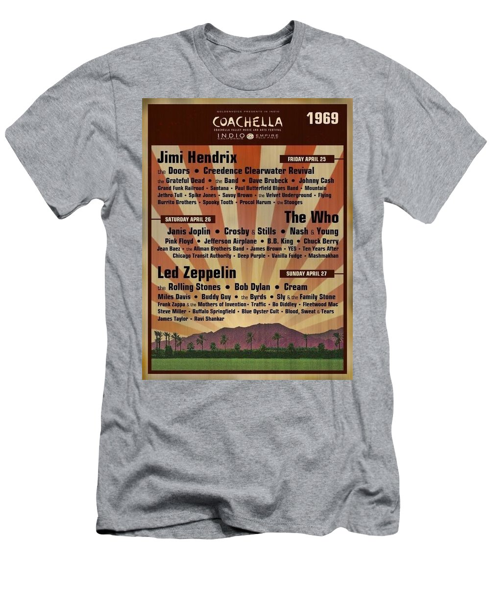 Posters Men's T-Shirt (Athletic Fit) featuring the photograph Classic Rock 1969 by Renate Nadi Wesley