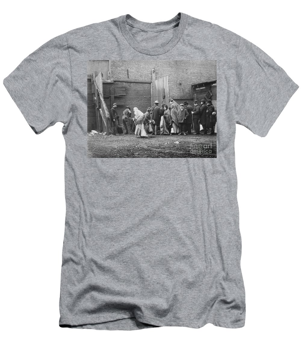 1902 Men's T-Shirt (Athletic Fit) featuring the photograph Coal Line, Nyc; 1902 by Granger
