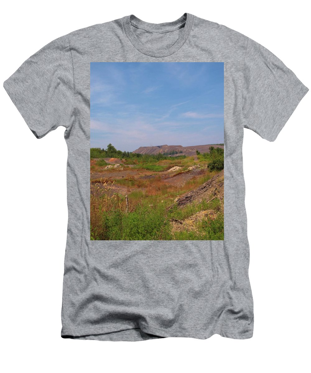 Centralia Pa Men's T-Shirt (Athletic Fit) featuring the photograph Coal Region by Michele Nelson