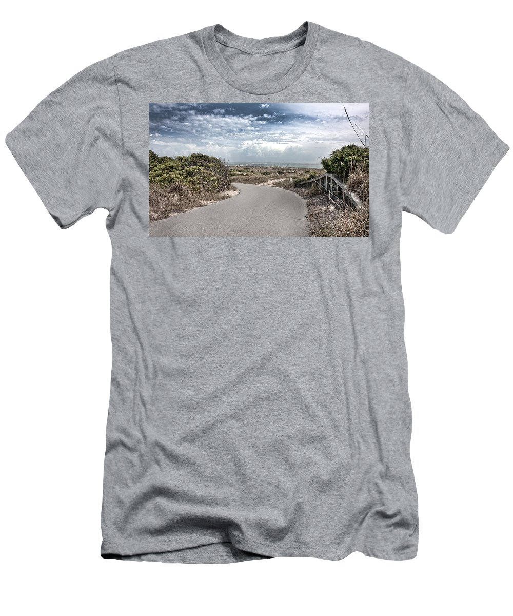 Bald Men's T-Shirt (Athletic Fit) featuring the photograph Coastal Bend by Betsy Knapp
