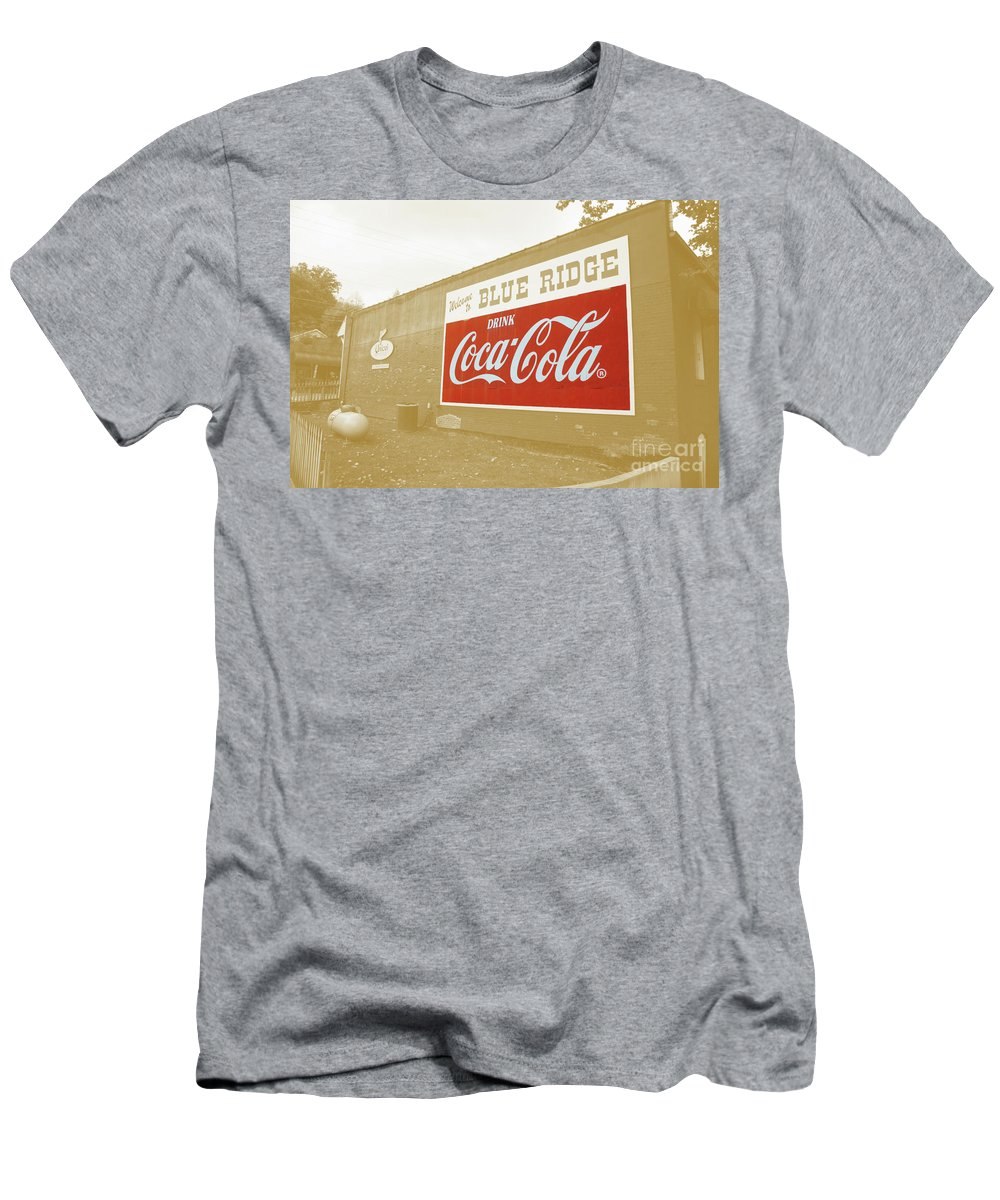 Blue Men's T-Shirt (Athletic Fit) featuring the photograph Coca-cola Sepia by Jost Houk