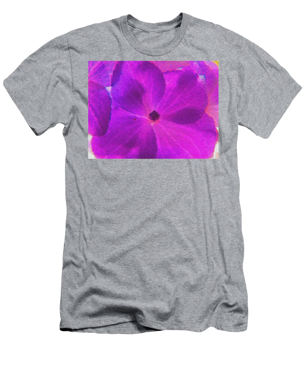 Nature Men's T-Shirt (Athletic Fit) featuring the photograph Crystelized Hydrangea Bloom Art by Debbie Portwood
