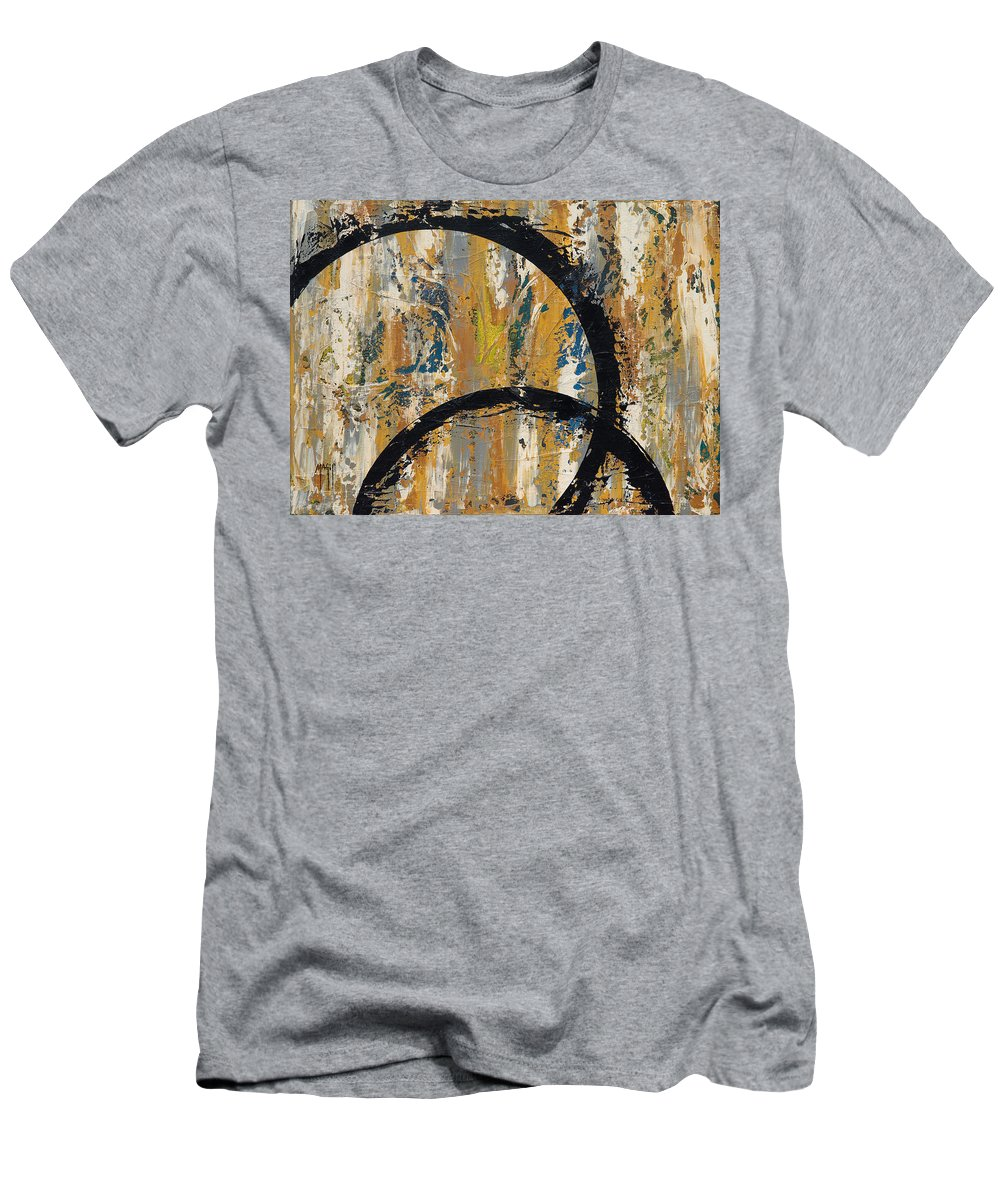 Art Men's T-Shirt (Athletic Fit) featuring the painting Cycles 1 by Mauro Celotti