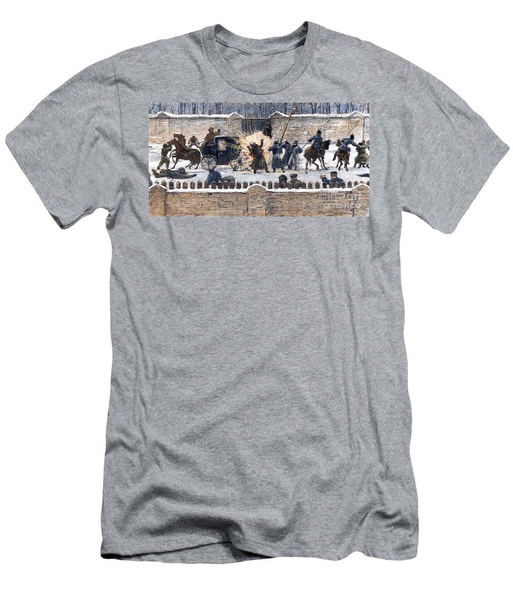 1881 Men's T-Shirt (Athletic Fit) featuring the photograph Czars Assassination, 1881 by Granger