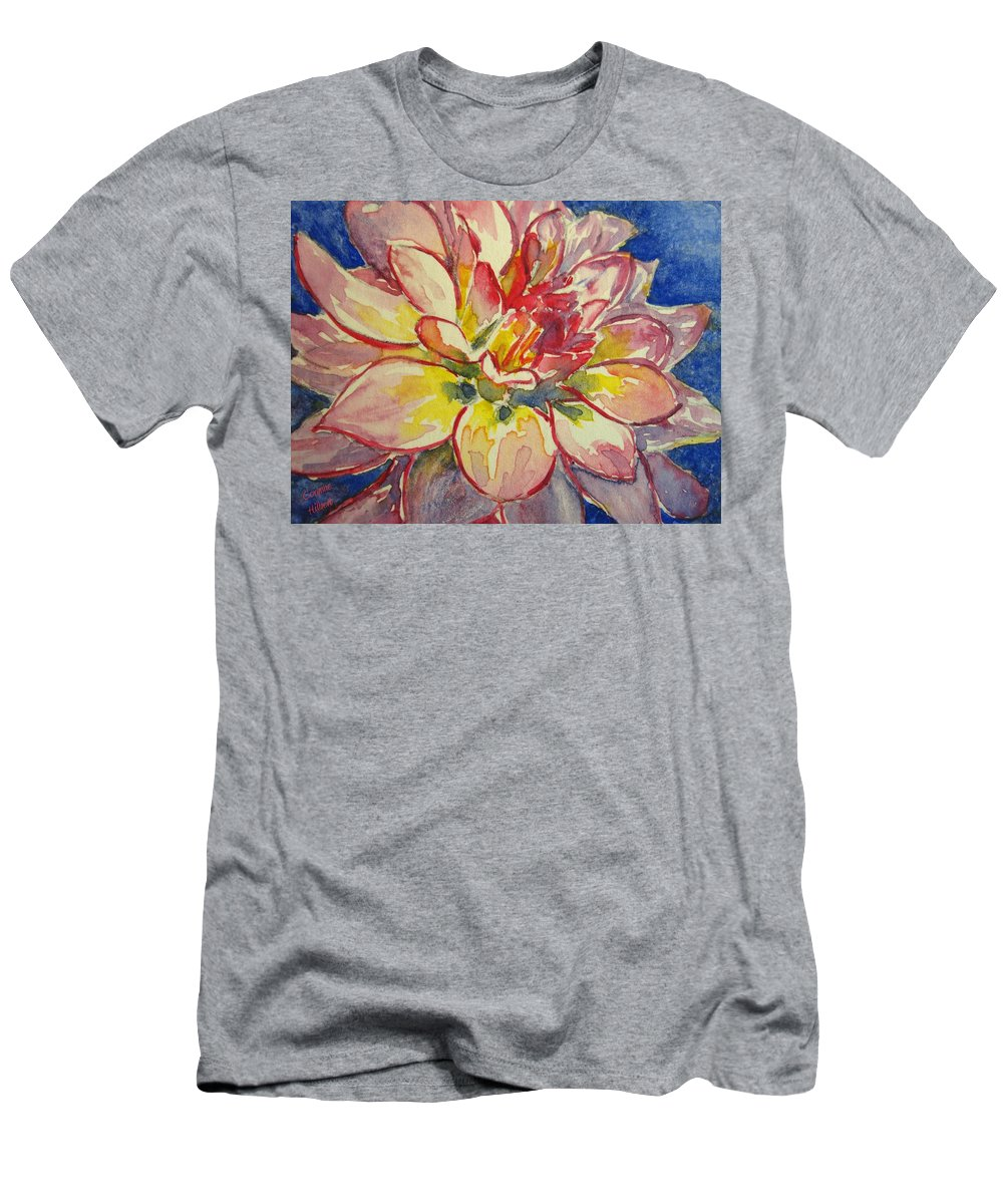 Dahlia Men's T-Shirt (Athletic Fit) featuring the painting Dahlia by Corynne Hilbert