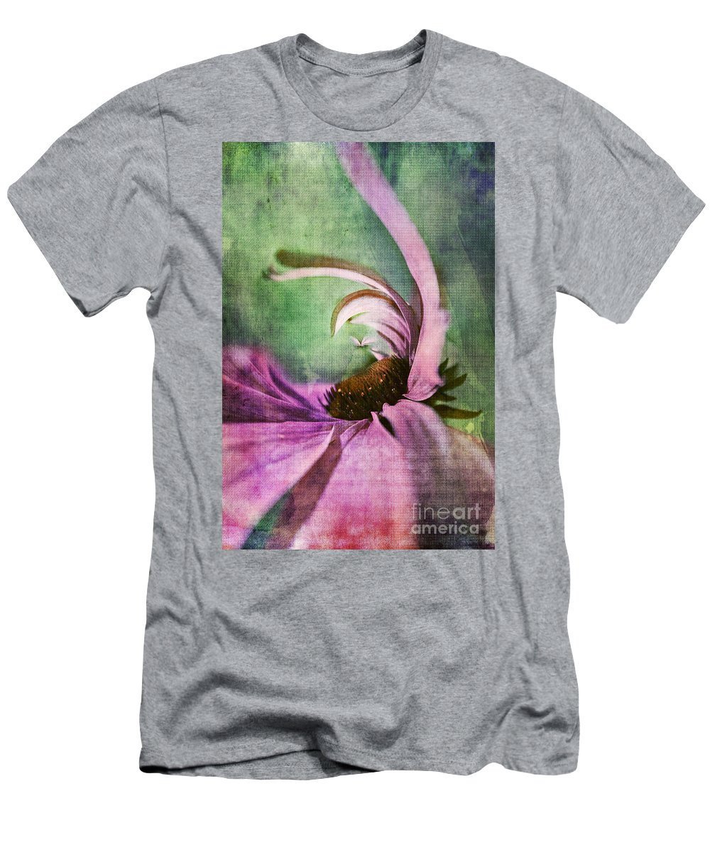 Daisy Men's T-Shirt (Athletic Fit) featuring the digital art Daisy Fun - A01v042t05 by Variance Collections