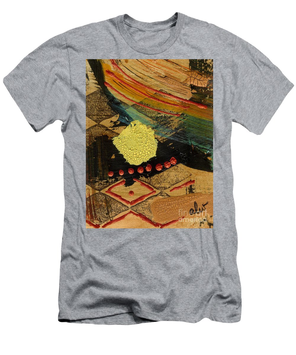Diamonds Men's T-Shirt (Athletic Fit) featuring the mixed media Diamond Sand Storm by Angela L Walker
