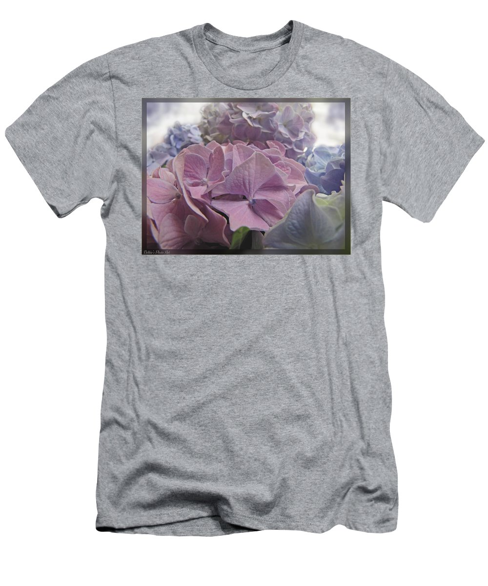 Nature Men's T-Shirt (Athletic Fit) featuring the photograph Dream Hydrangeas by Debbie Portwood