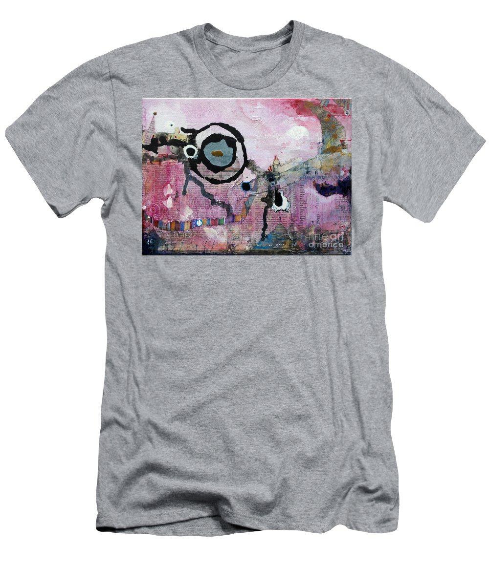 Abstract Men's T-Shirt (Athletic Fit) featuring the painting Dream Painting by Jay Taylor