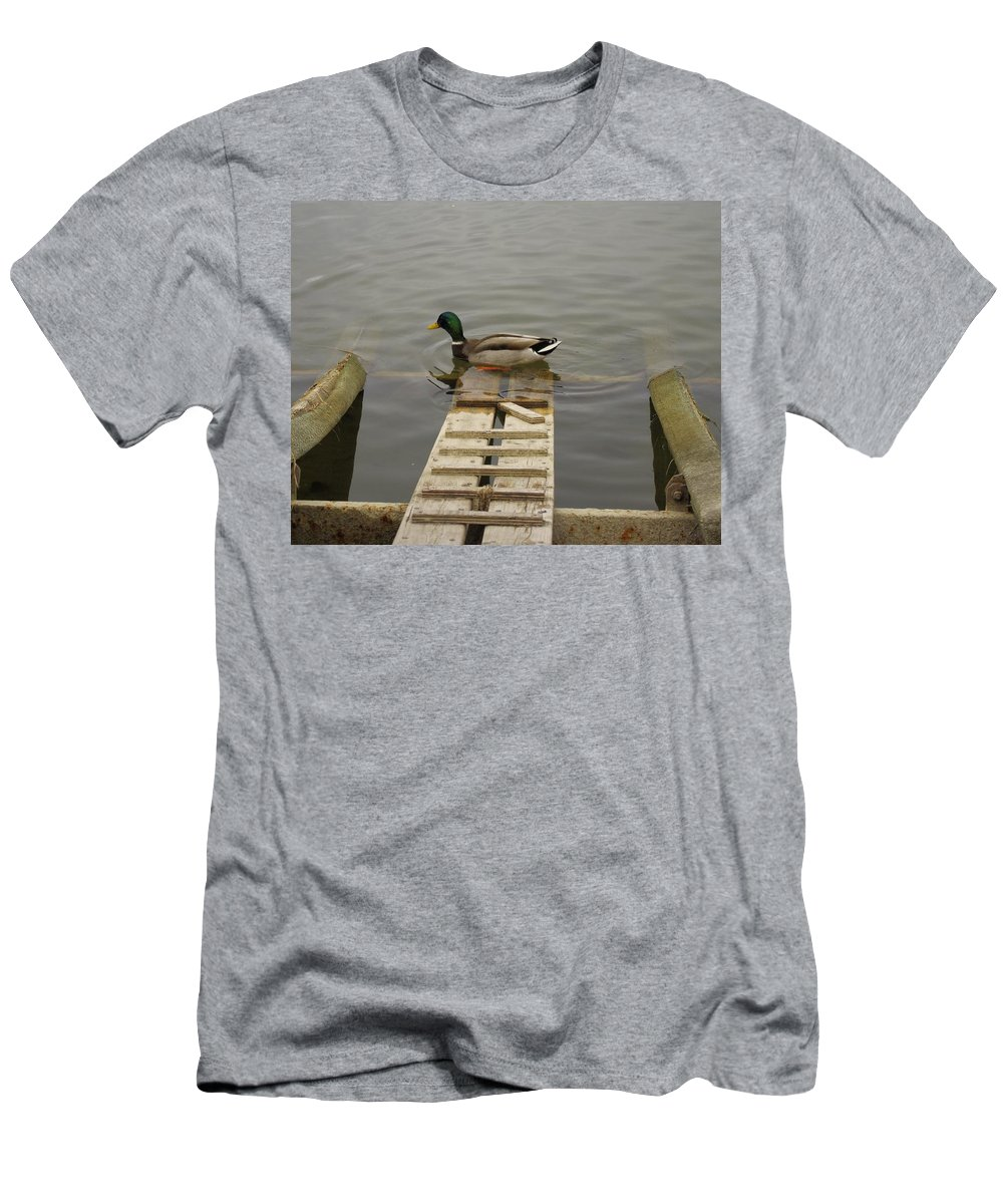 Duck Men's T-Shirt (Athletic Fit) featuring the photograph Duck Ramp by John Greaves