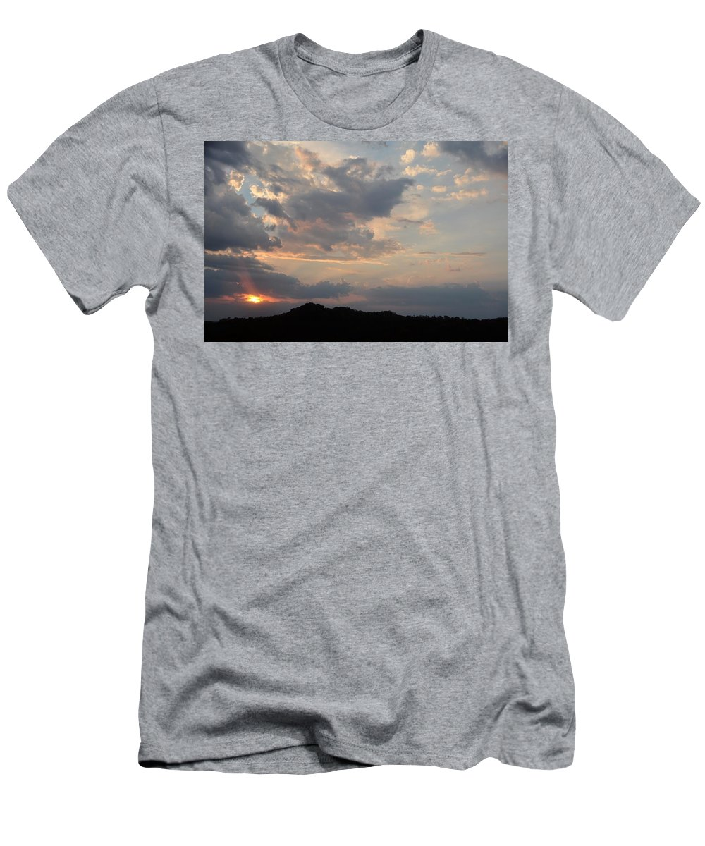 Sunset Men's T-Shirt (Athletic Fit) featuring the photograph Dusk by Joan Kerns