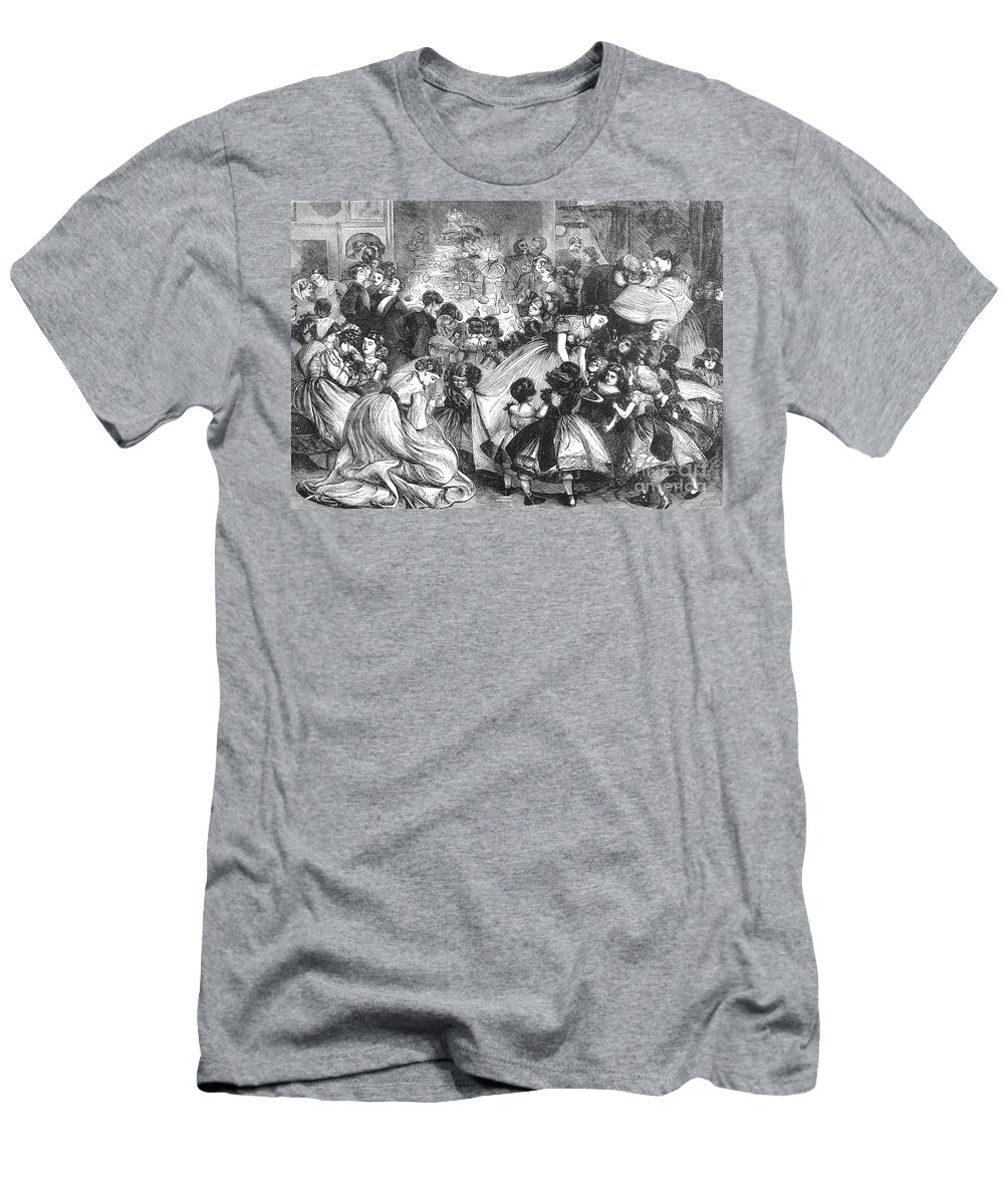19th Century Men's T-Shirt (Athletic Fit) featuring the photograph England: Christmas Party by Granger
