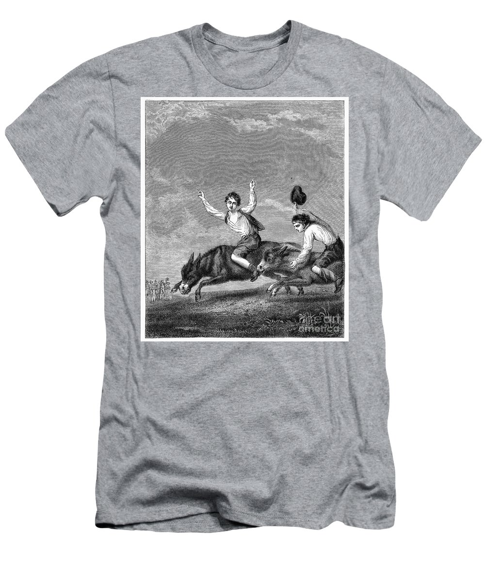 18th Century Men's T-Shirt (Athletic Fit) featuring the photograph England: Donkey Race by Granger