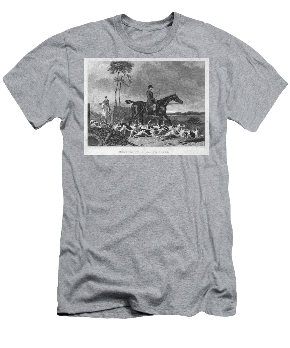 1832 Men's T-Shirt (Athletic Fit) featuring the photograph England: Fox Hunt, 1832 by Granger