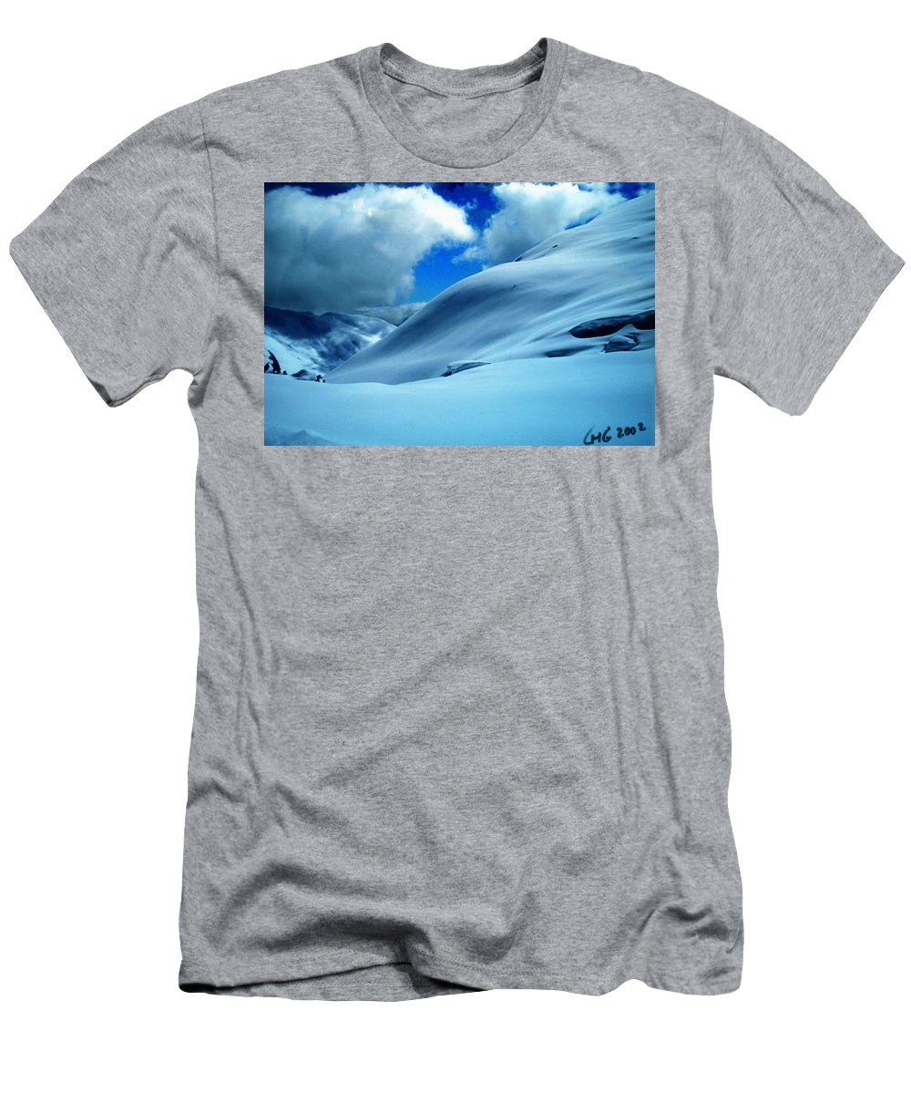 Colette Men's T-Shirt (Athletic Fit) featuring the photograph Eye Catcher In The Snow by Colette V Hera Guggenheim