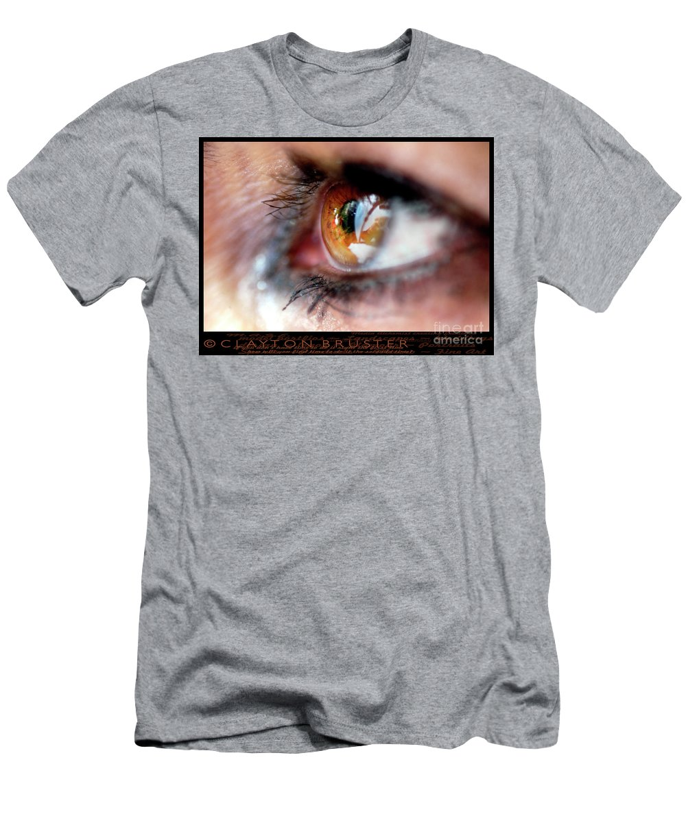 Clay Men's T-Shirt (Athletic Fit) featuring the photograph Eye Don't Know by Clayton Bruster