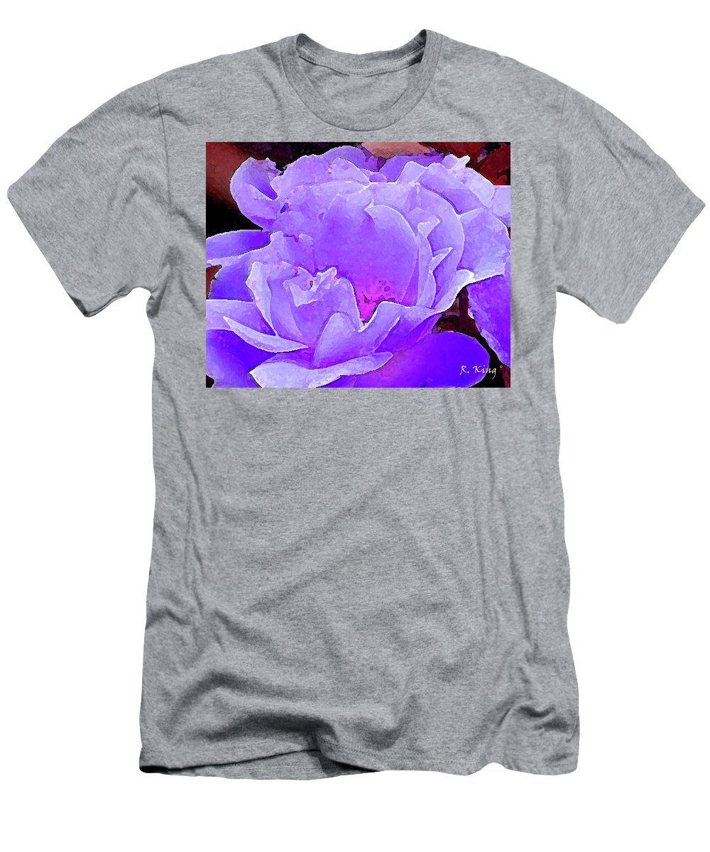 Roena King Men's T-Shirt (Athletic Fit) featuring the photograph Fantasia Flower by Roena King
