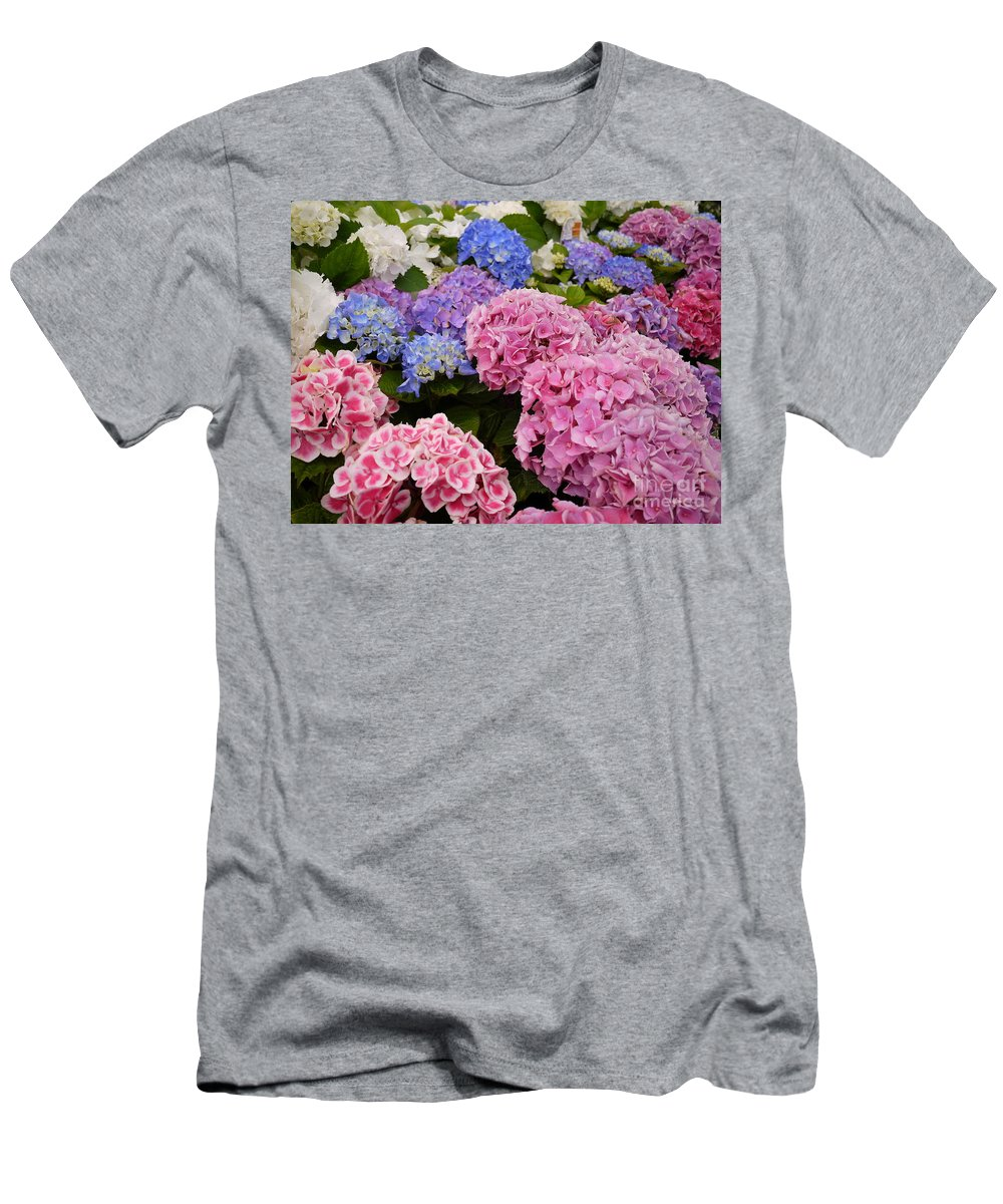 Flowers Men's T-Shirt (Athletic Fit) featuring the photograph Field Of Happiness by Nancie DeMellia