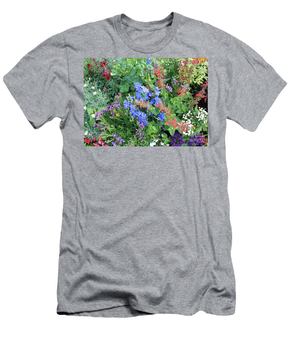Flowers Men's T-Shirt (Athletic Fit) featuring the photograph Flowers Galore by Carol Groenen